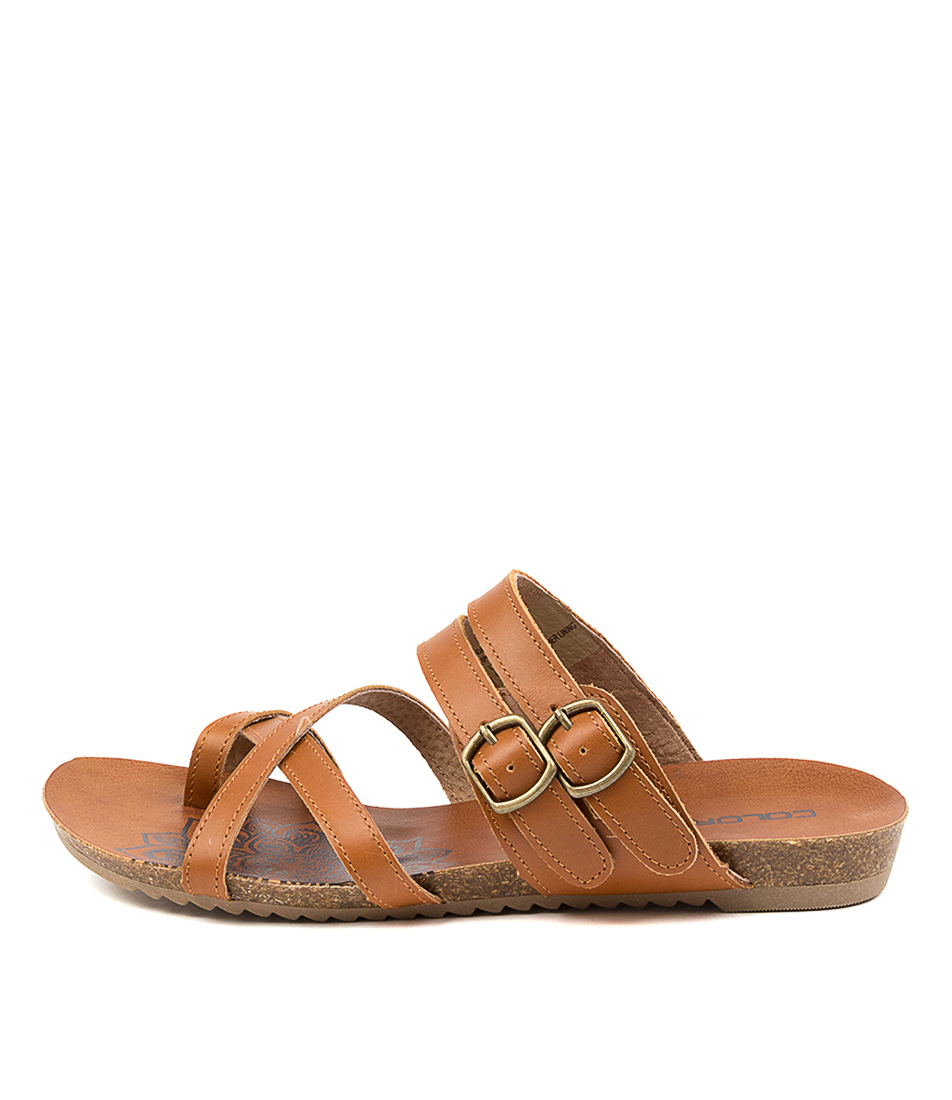 Buy Colorado Adadirondack Cf Tan Flat Sandals online with free shipping