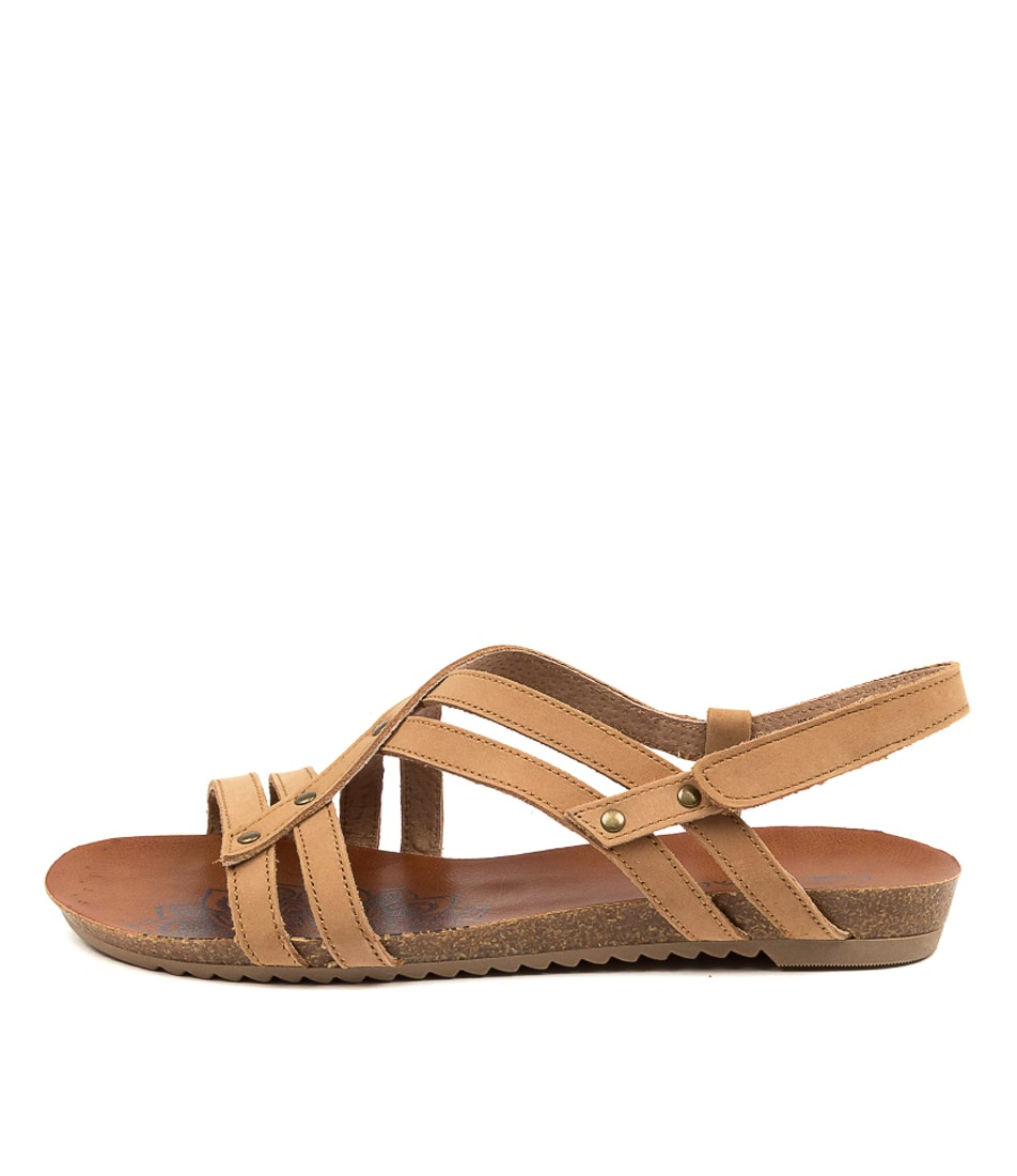 Buy Colorado Aldona Cf Tan Flat Sandals online with free shipping
