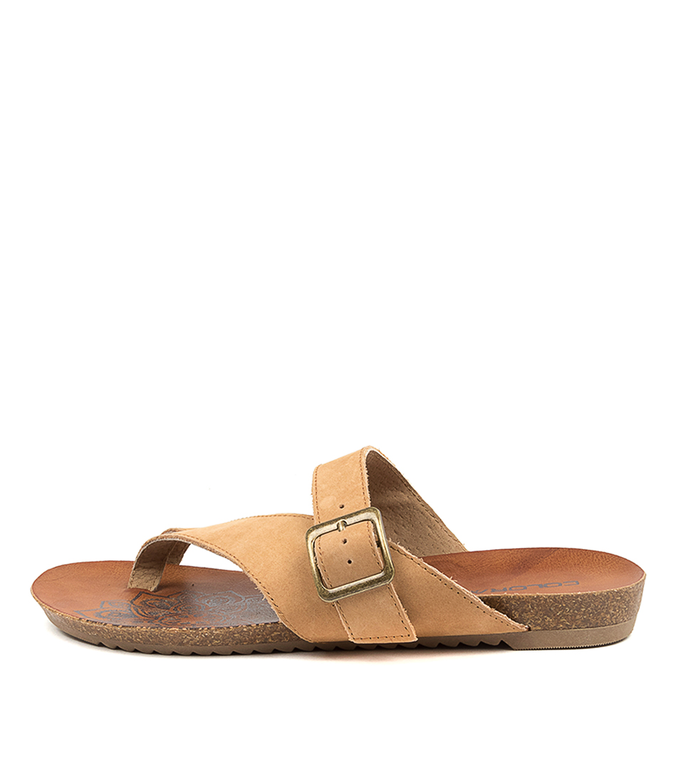 Buy Colorado Ancona Cf Tan Flat Sandals online with free shipping
