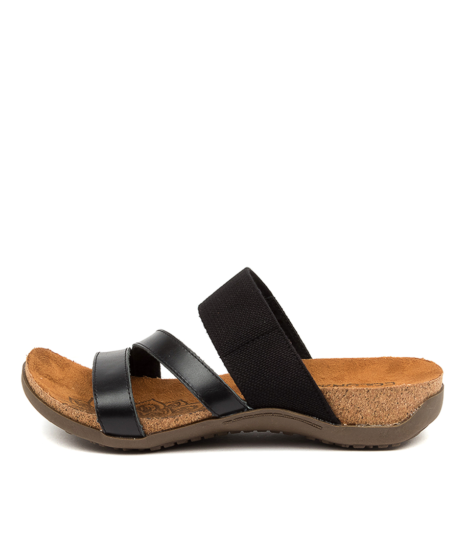 Buy Colorado Egeria Cf Black Flat Sandals online with free shipping
