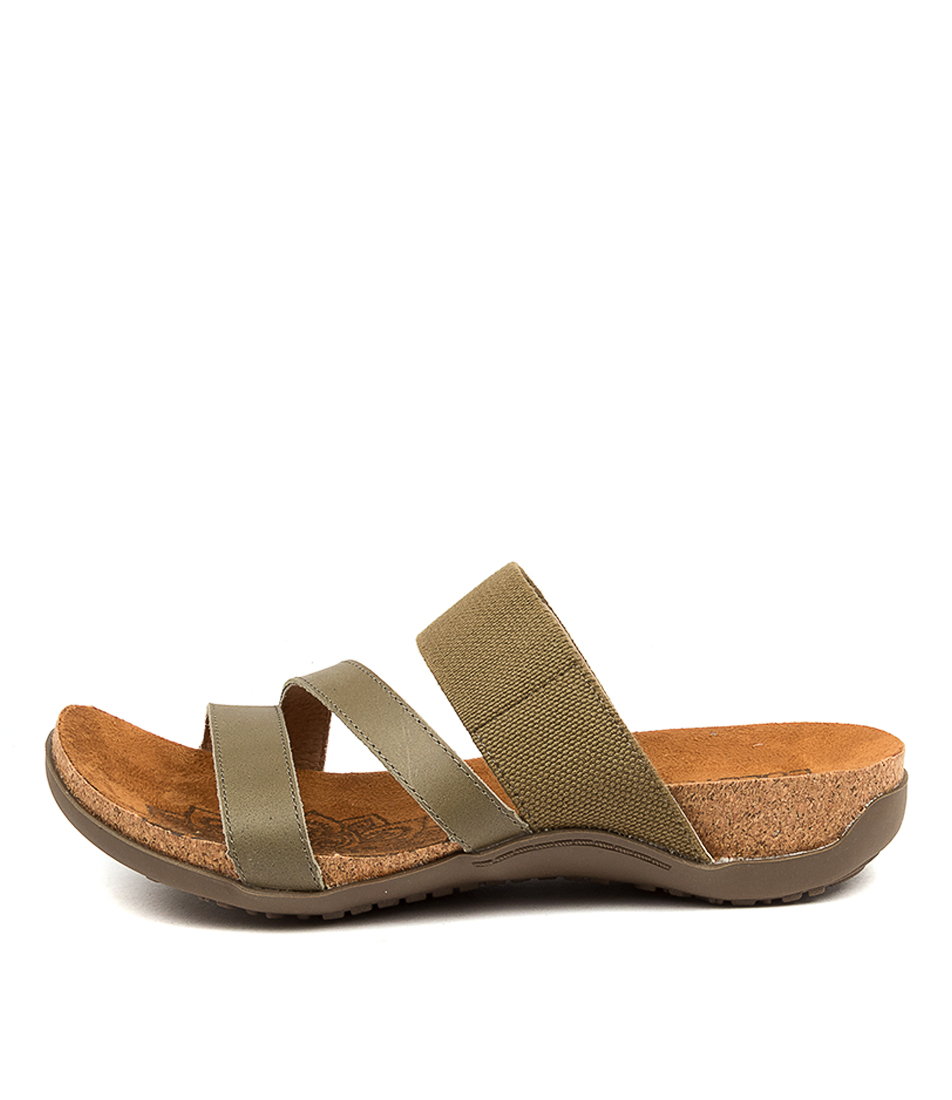 Buy Colorado Egeria Cf Olive Flat Sandals online with free shipping
