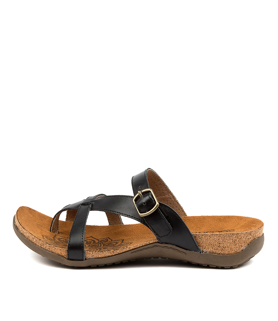 Buy Colorado Eklana Cf Black Flat Sandals online with free shipping