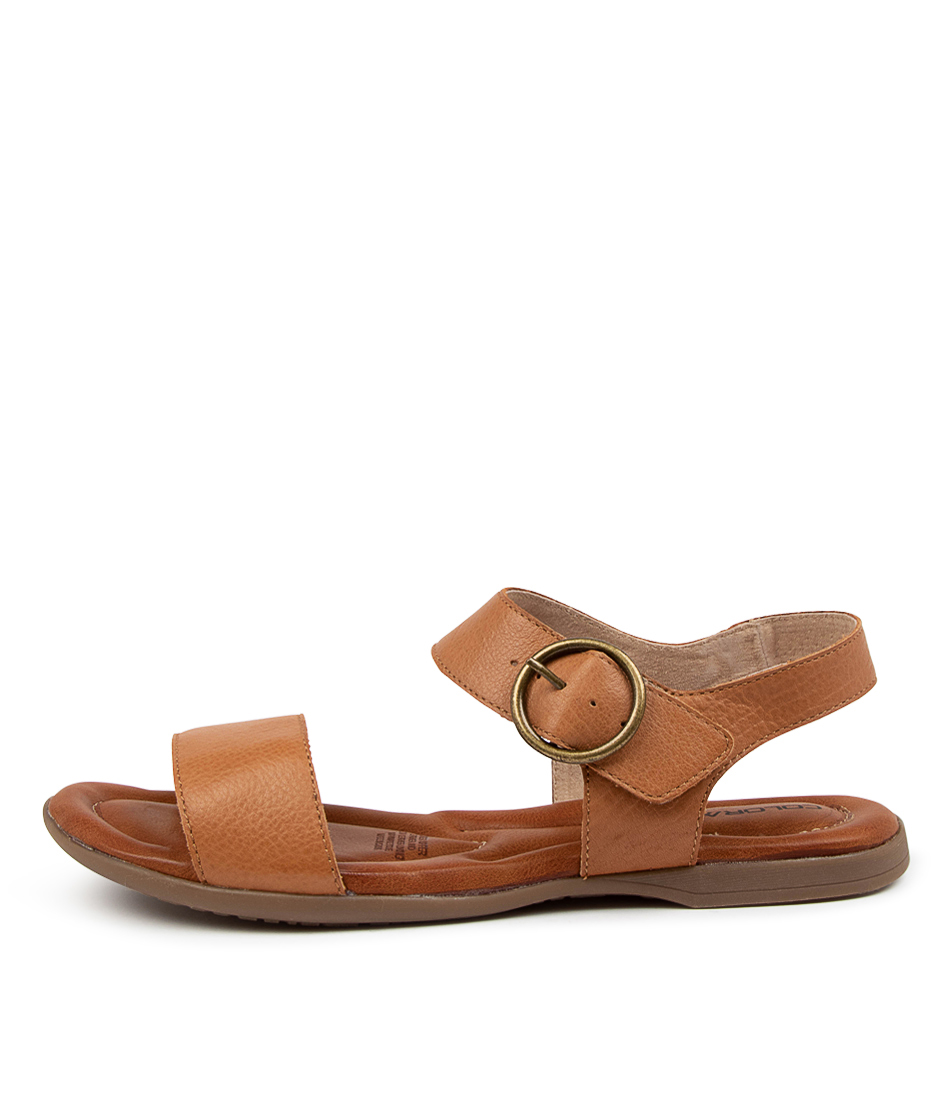 Buy Colorado Kadence Cf Dk Tan Flat Sandals online with free shipping