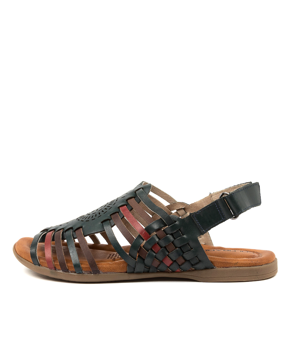 Buy Colorado Kempton Cf Navy Multi Flat Sandals online with free shipping