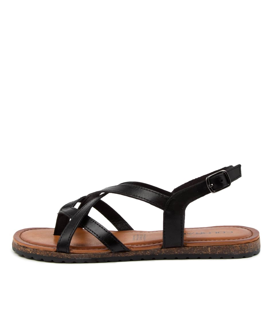 Buy Colorado Beau Cf Black Sandals Flat Sandals online with free shipping