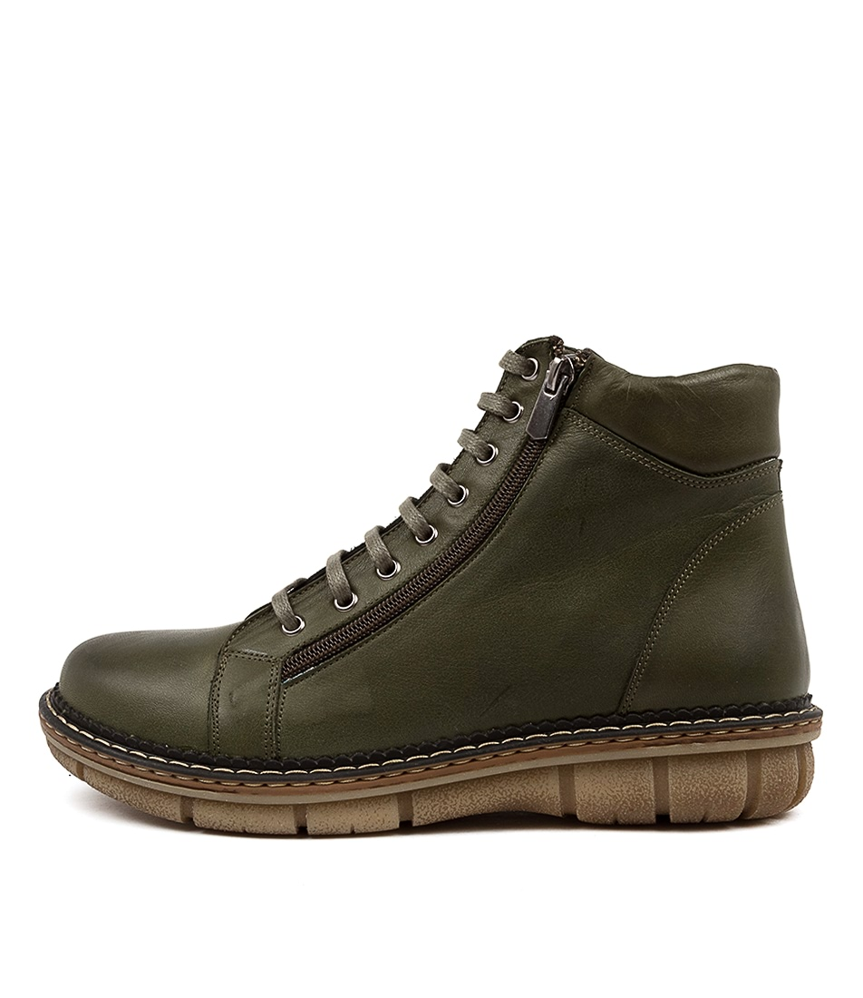 Buy Colorado Asarah Cf Olive Ankle Boots online with free shipping