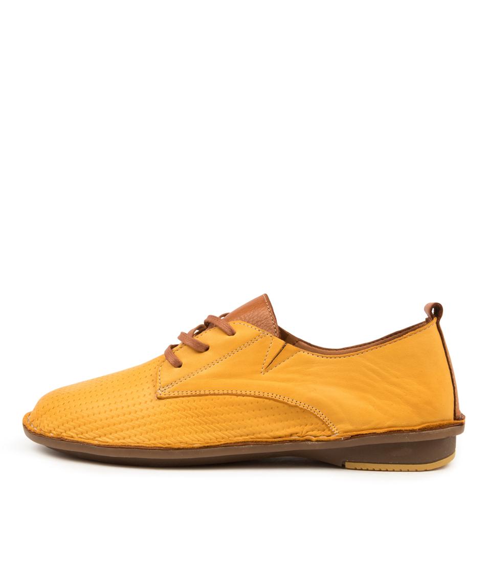 Buy Colorado Babine Cf Yellow Tan Flats online with free shipping