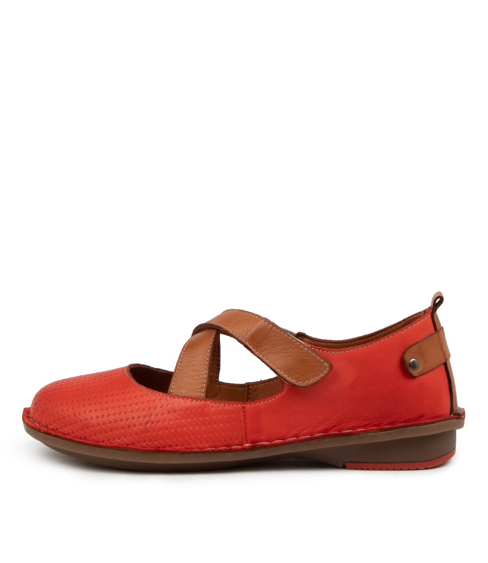 Buy Colorado Brennia Cf Red Tan Flats online with free shipping