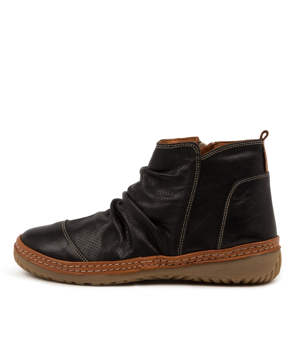 Buy Colorado Dettie Cf Black Tan Ankle Boots online with free shipping