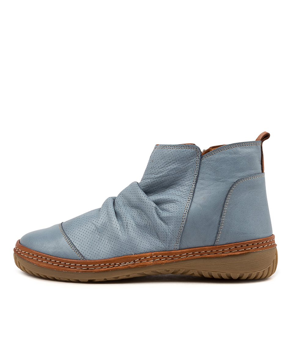 Buy Colorado Dettie Cf Denim Tan Ankle Boots online with free shipping