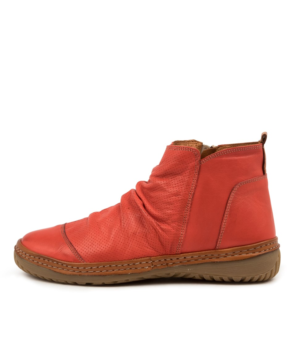 Buy Colorado Dettie Cf Red Tan Ankle Boots online with free shipping