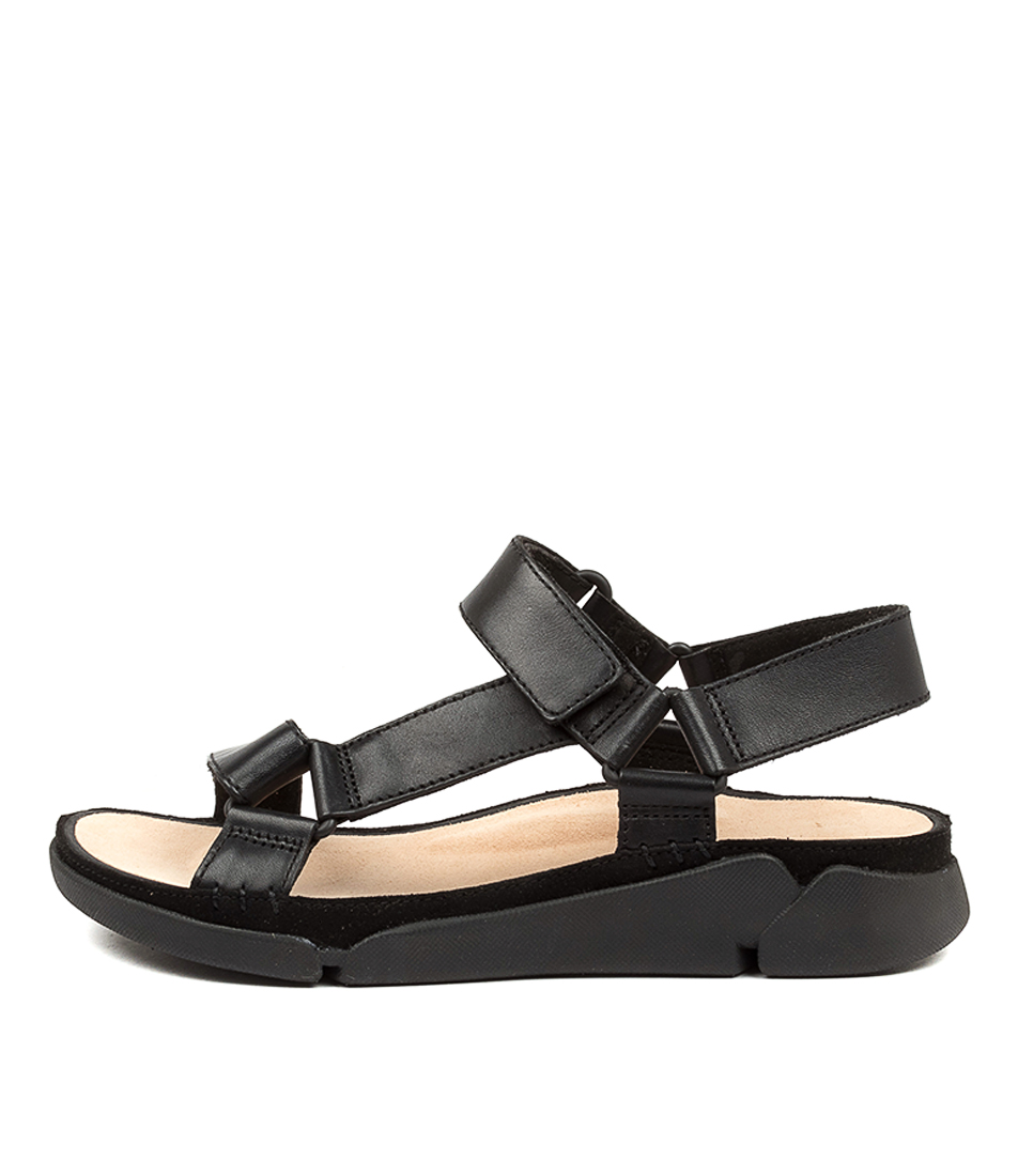Buy Clarks Tri Sporty W Ck Black Flat Sandals online with free shipping