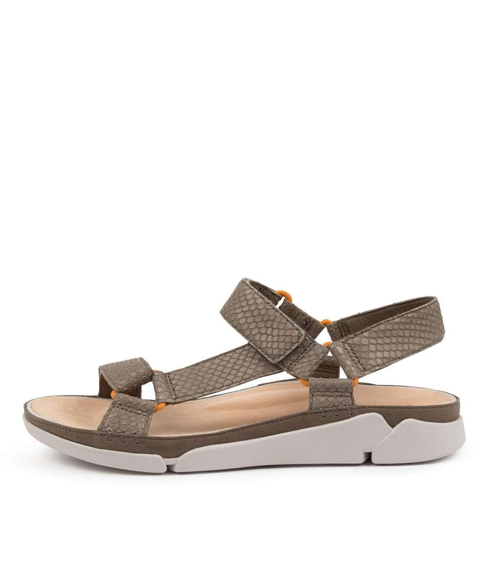 Buy Clarks Tri Sporty W Ck Sage Flat Sandals online with free shipping