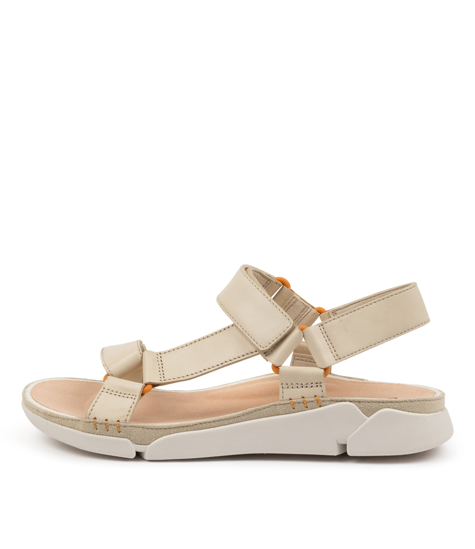 Buy Clarks Tri Sporty W Ck White Flat Sandals online with free shipping