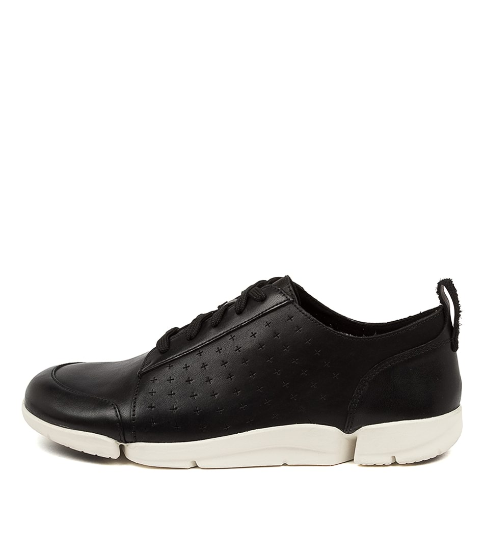 Buy Clarks Trimelia Edge Perf W Ck Black White Sole Sneakers online with free shipping