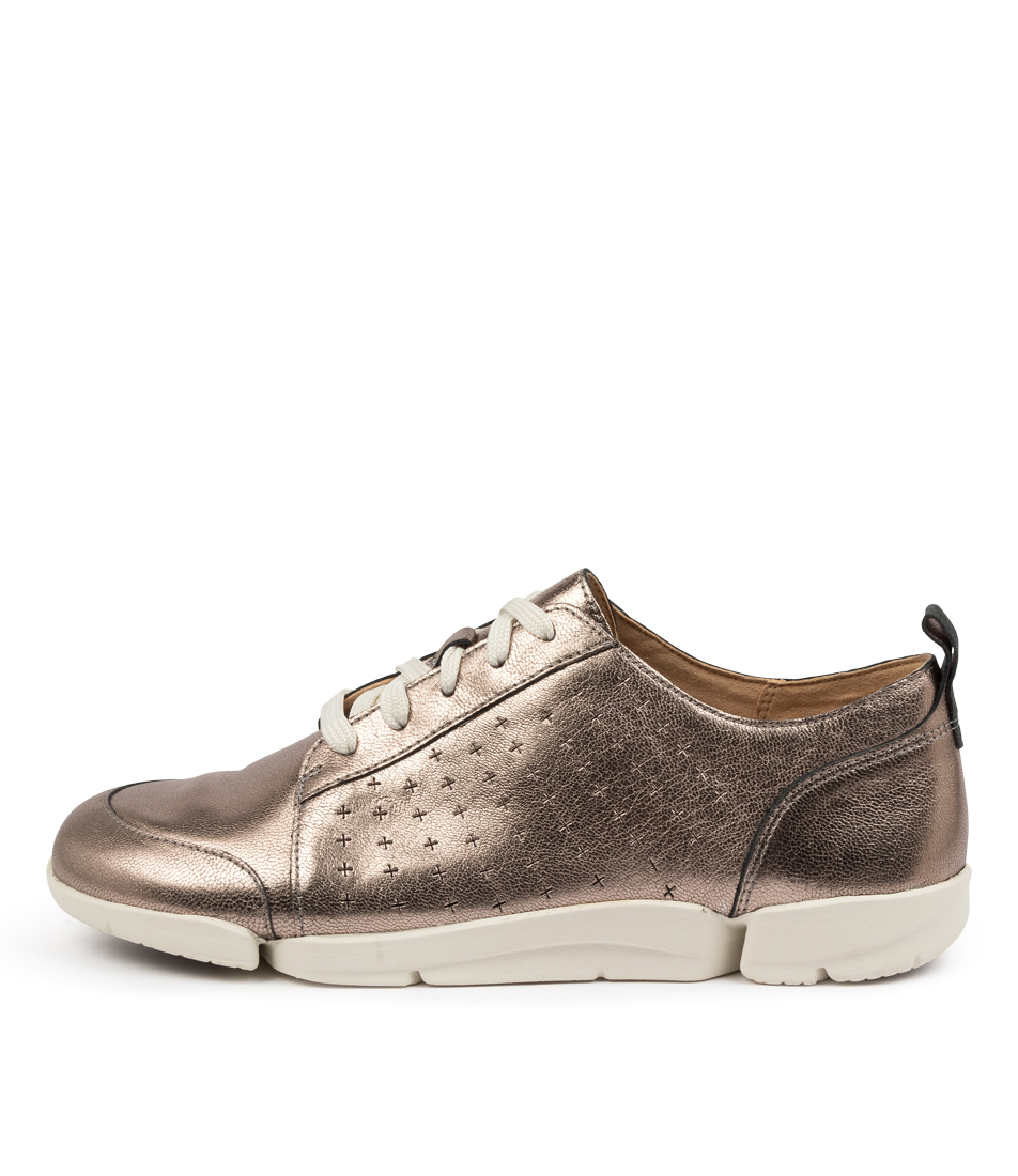Buy Clarks Trimelia Edge Perf W Ck Stone Metallic Sneakers online with free shipping