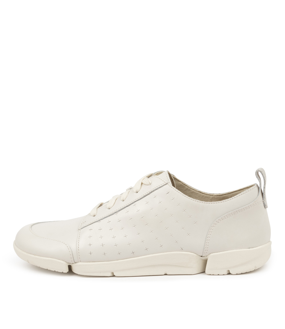 Buy Clarks Trimelia Edge Perf W Ck White Sneakers online with free shipping