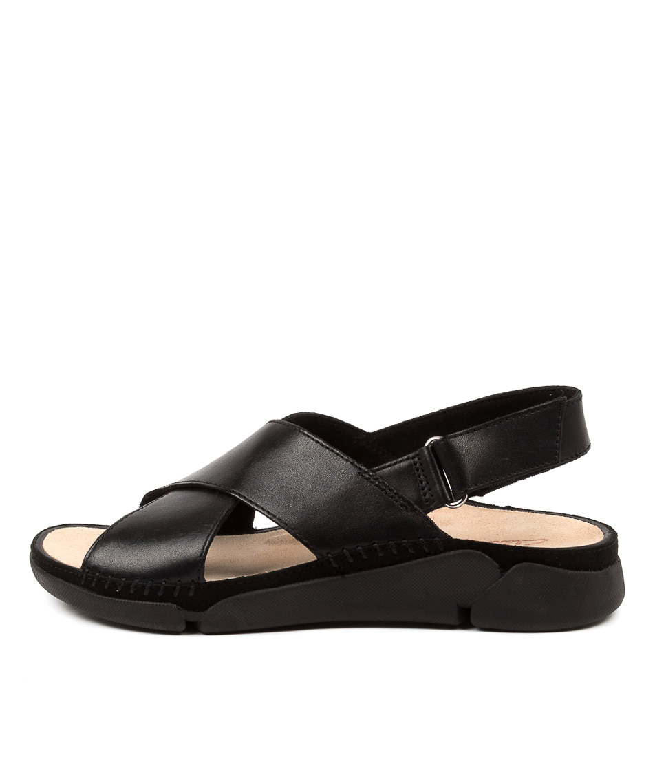 Buy Clarks Tri Alexia W Ck Black Flat Sandals online with free shipping