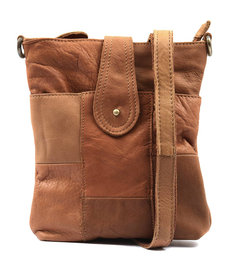 Condura Leather 17 534 Le3553 Tan Cross Body Bag