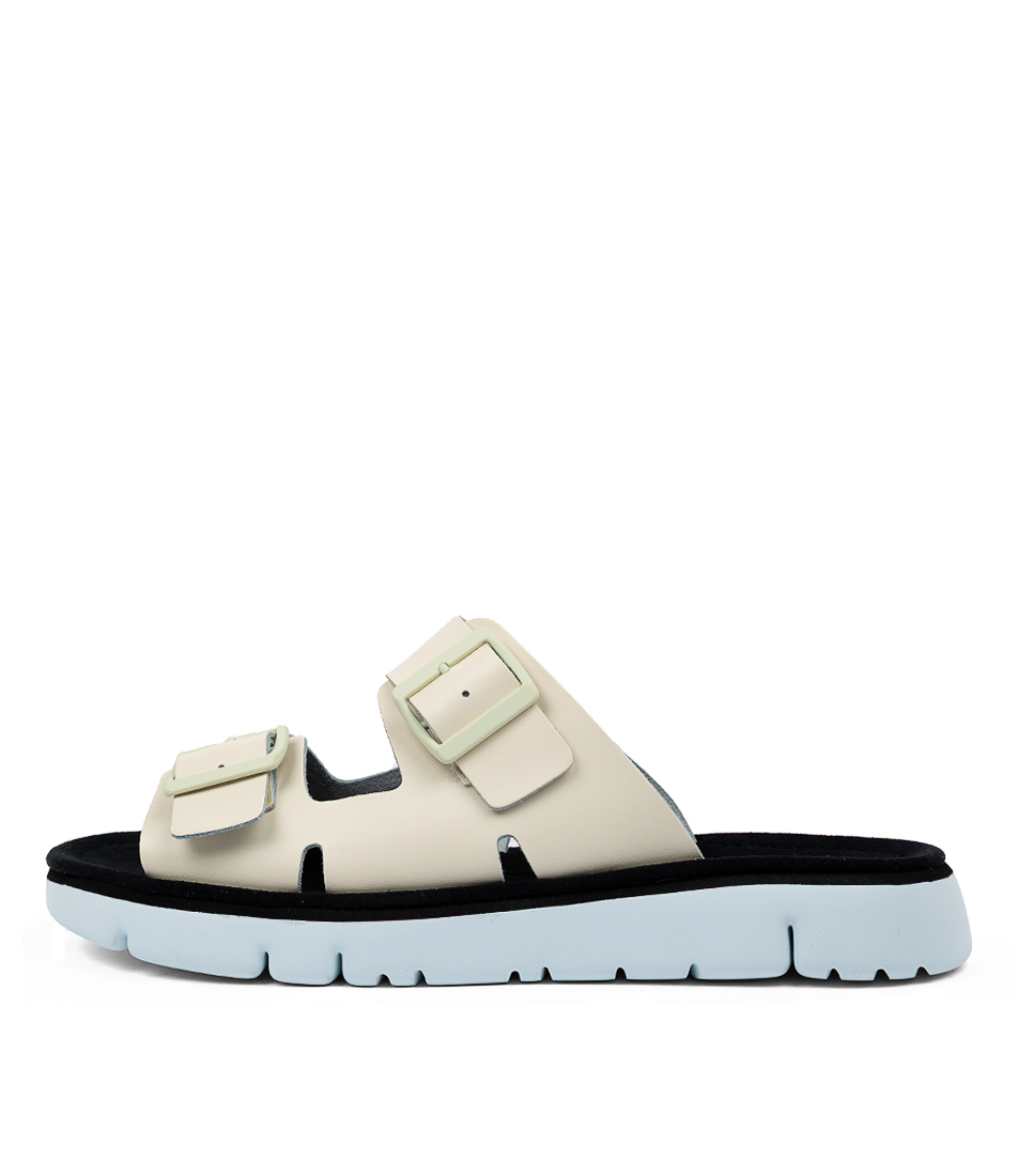 Buy Camper Oruga White Heeled Sandals online with free shipping