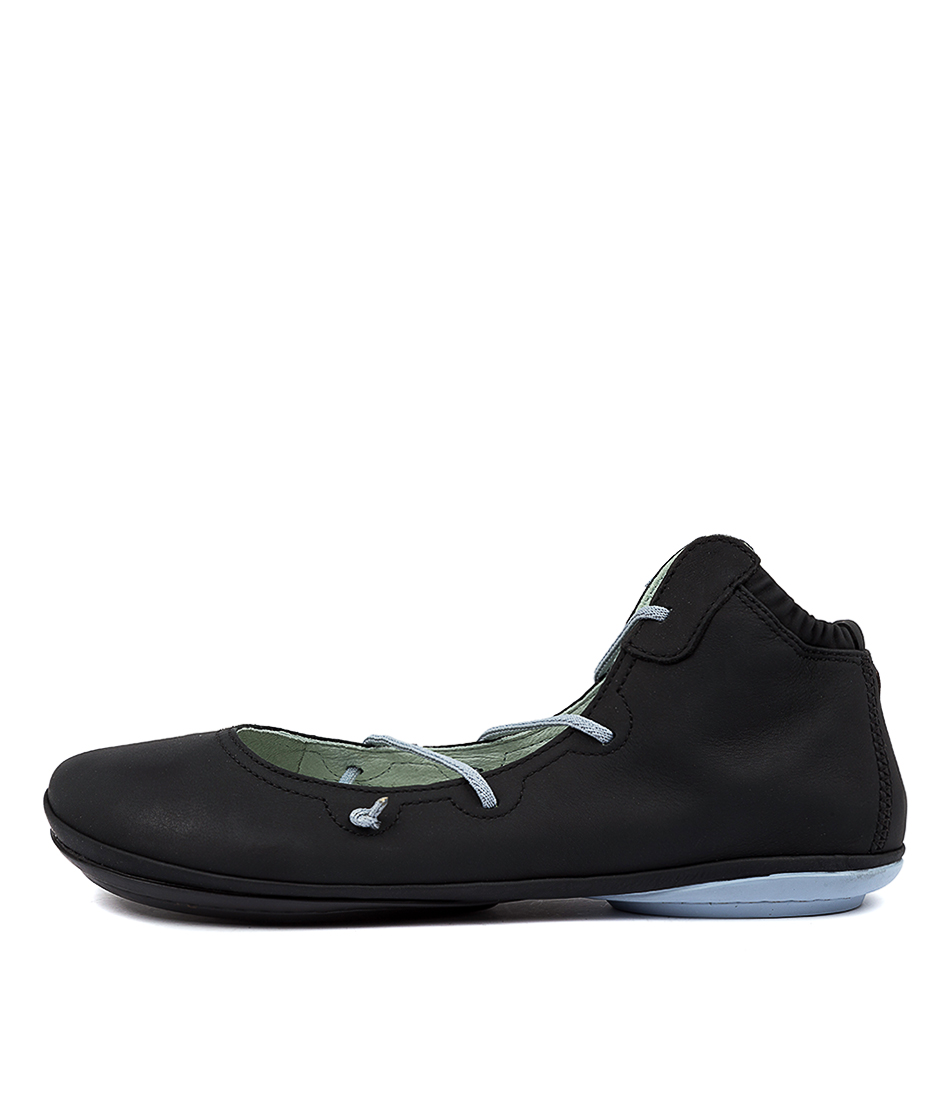 Buy Camper Right Nina Lace Black Flats online with free shipping