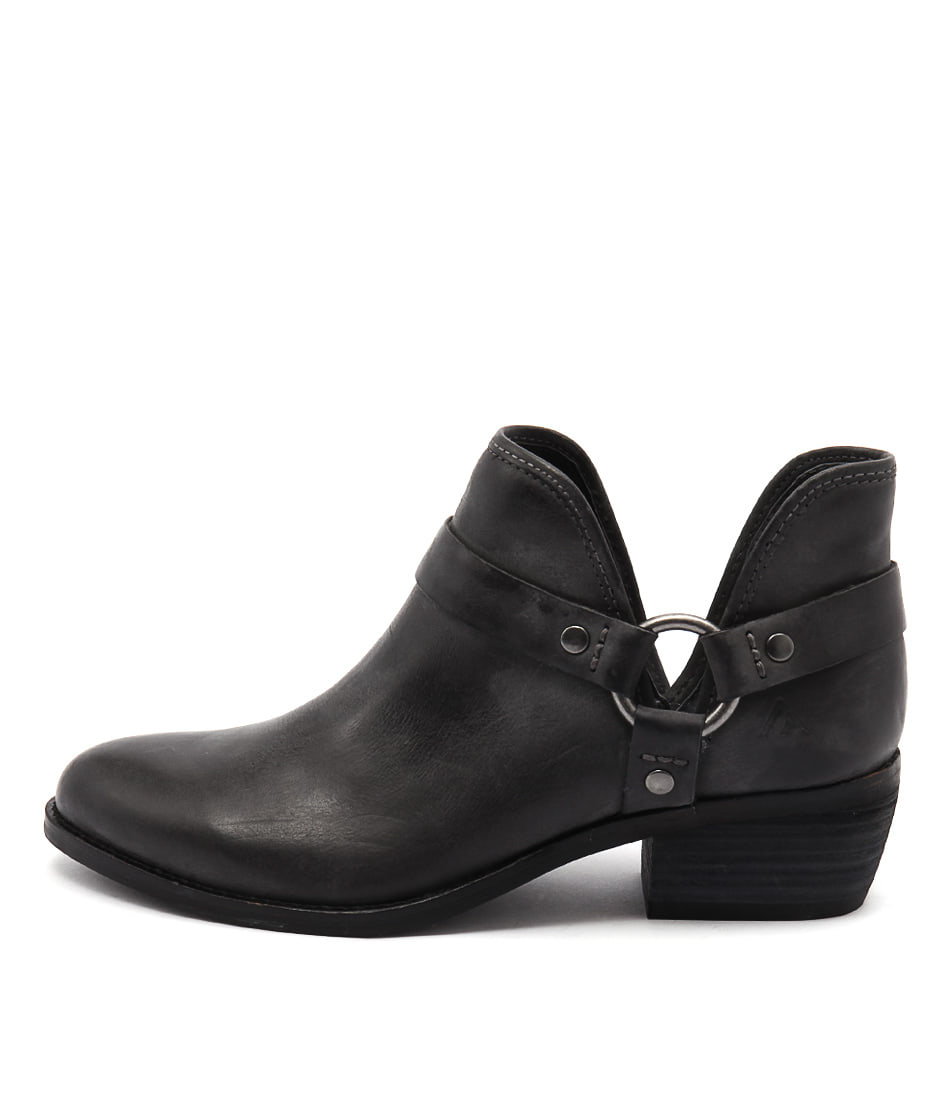 Colorado Key Charcoal Ankle Boots