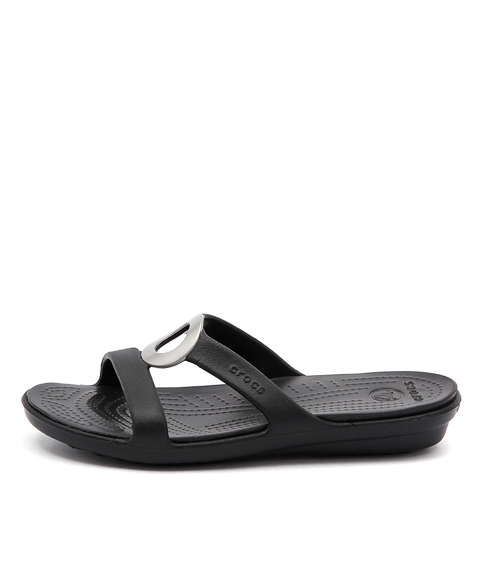Crocs Sanrah Black Black Sandals