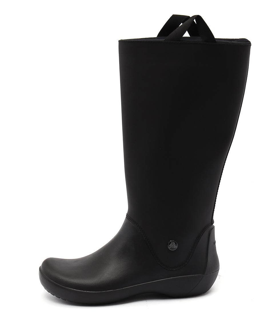 Crocs Rainfloe Boot Black Black Long Boots