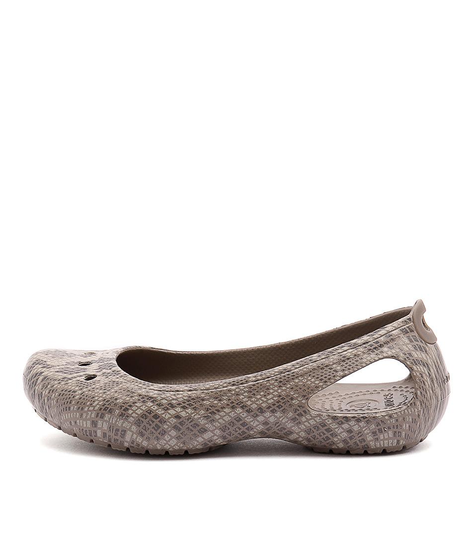 Crocs Kadee Snakeskin Graphite Stucco Comfort Flat Shoes buy  online