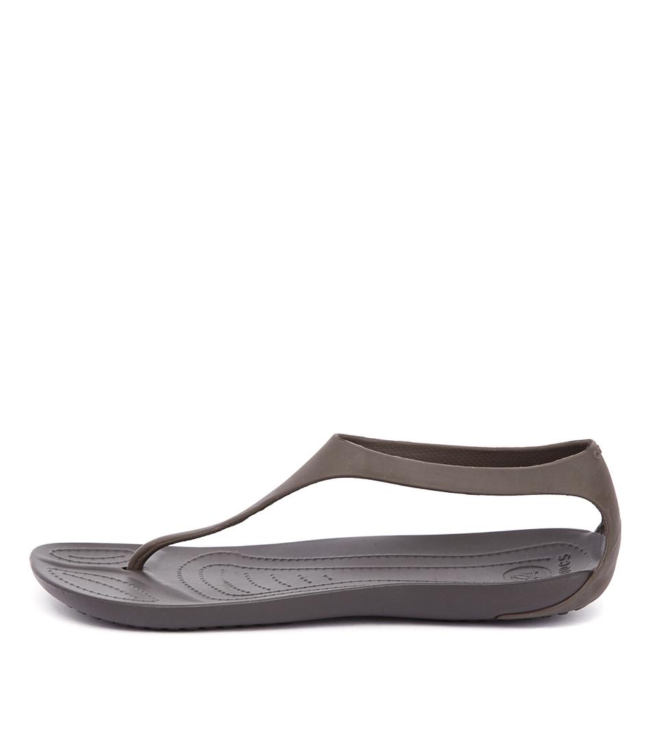 Crocs Sexi Flip Espresso Sandals Womens Shoes Comfort Sandals