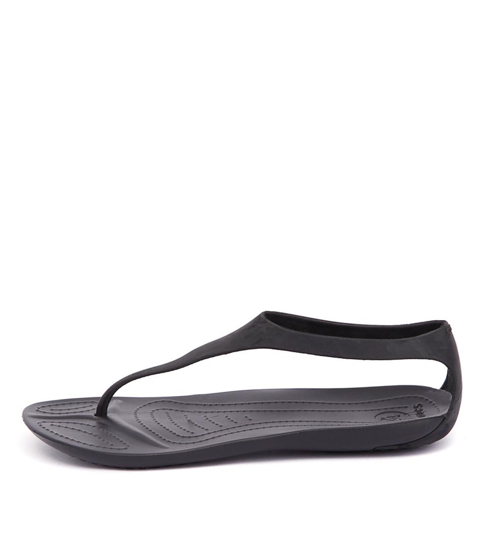 Crocs Sexi Flip Black Sandals Womens Shoes Comfort Sandals