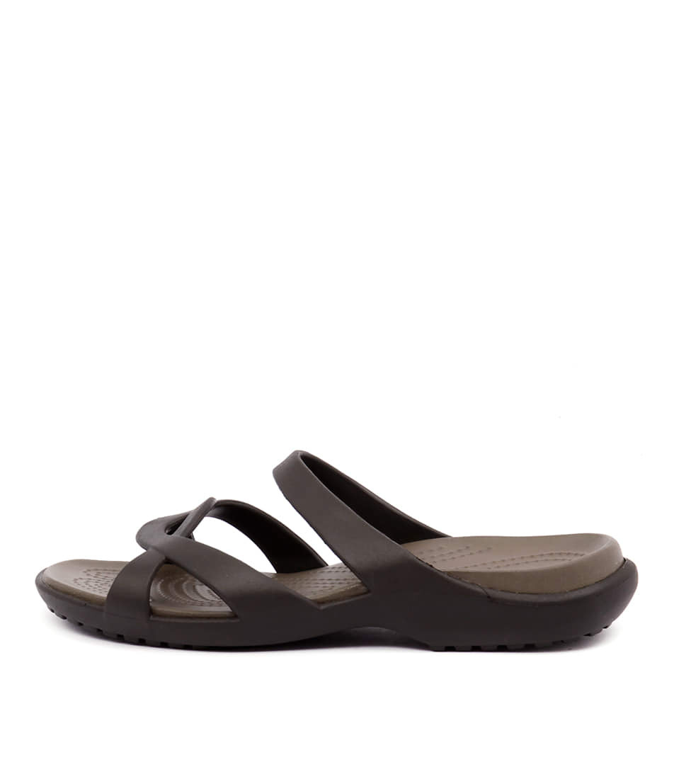 Buy Crocs Meleen Twist Sandal Espresso Walnut Flat Sandals online with free shipping