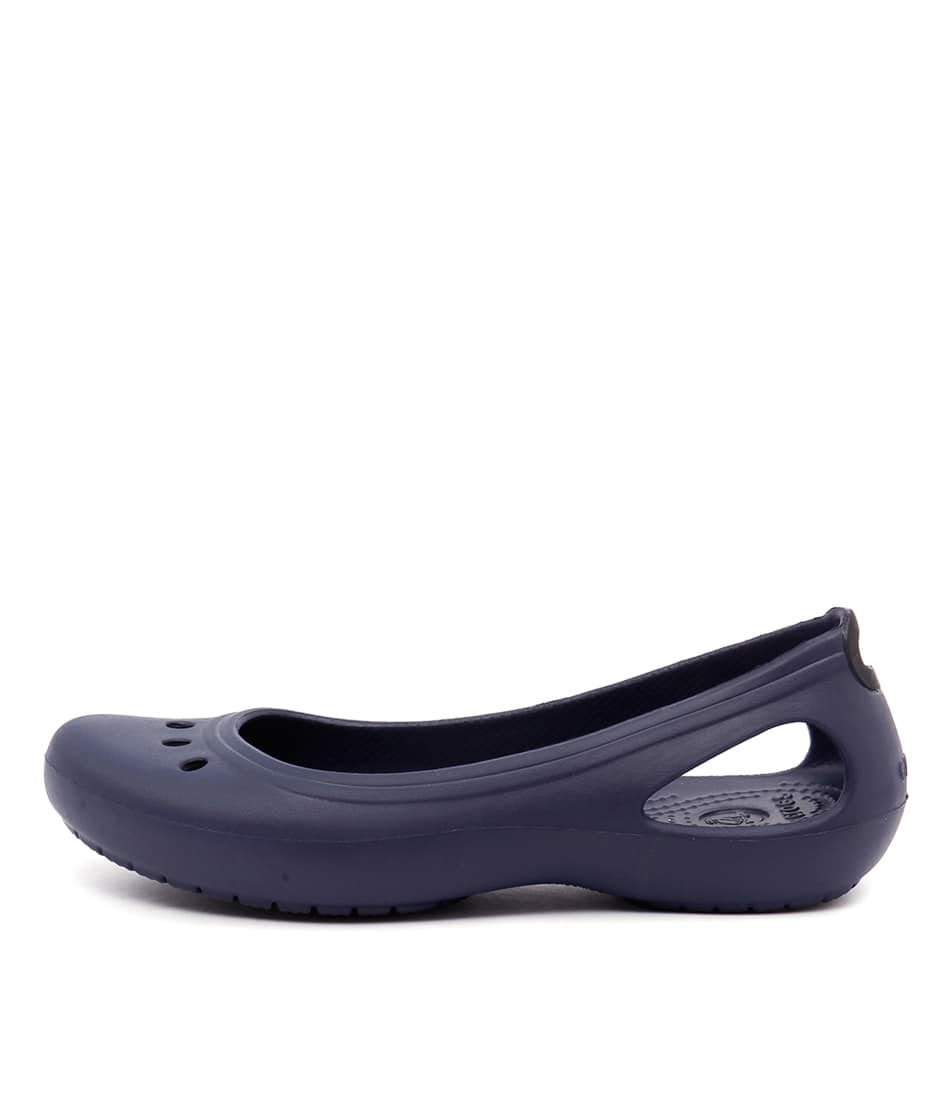 Crocs Kadee Nautical Navy Comfort Flat Shoes