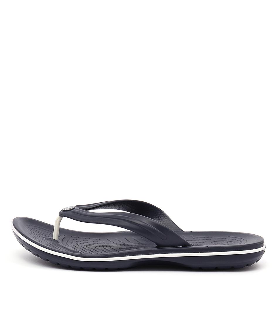 94148d2fe6f8 Details about New Crocs Crocband Flip Navy Mens Shoes Casual Sandals Sandals  Flat