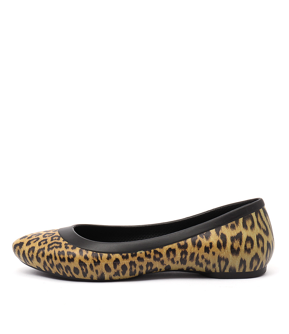 Crocs Lina Graphic Flat Leopard Shoes