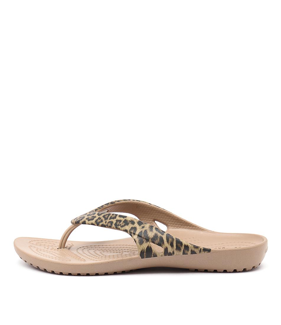 Crocs Kadee Ii Leopard Gold Sandals
