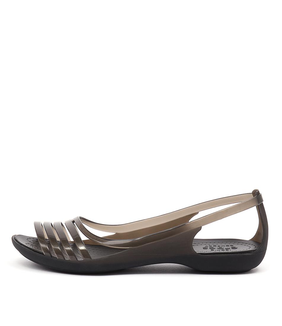 Crocs Isabella Huarache Black Sandals