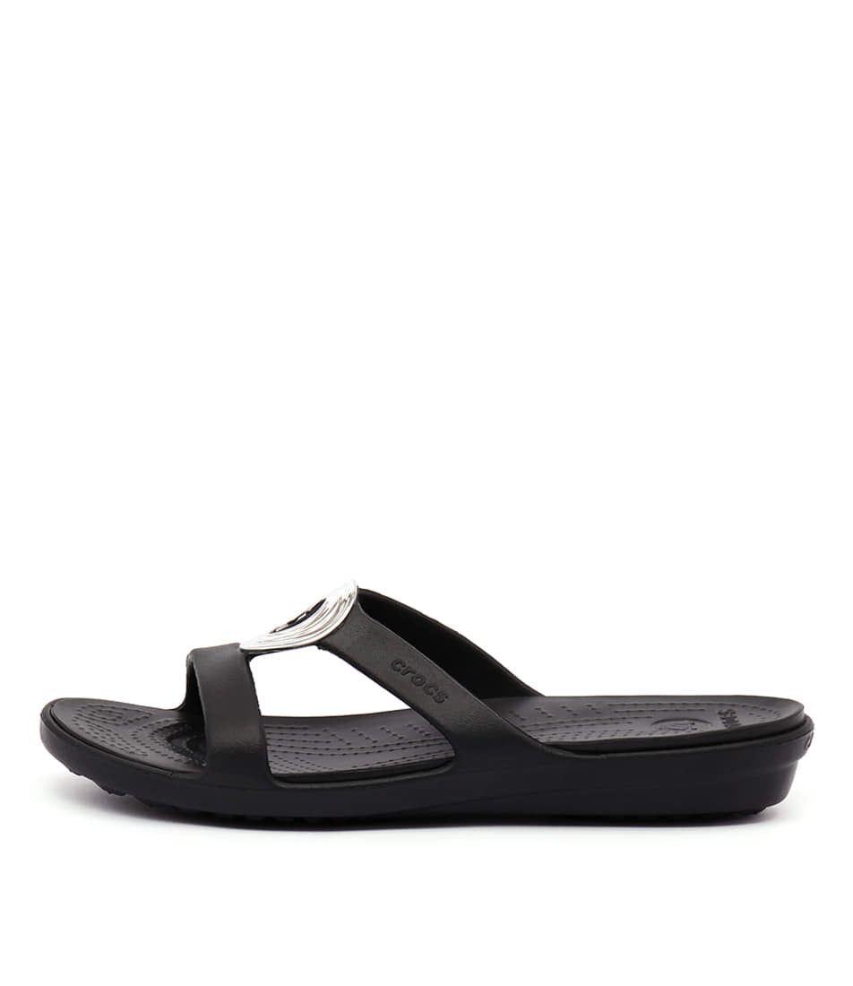 Crocs Sanrah Beveled Black Black Sandals