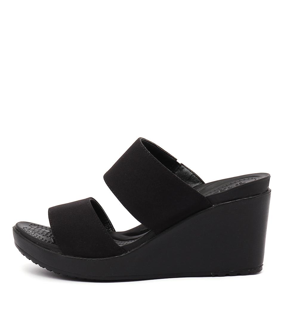 Crocs Leigh Ii 2 Strap Black Black Sandals