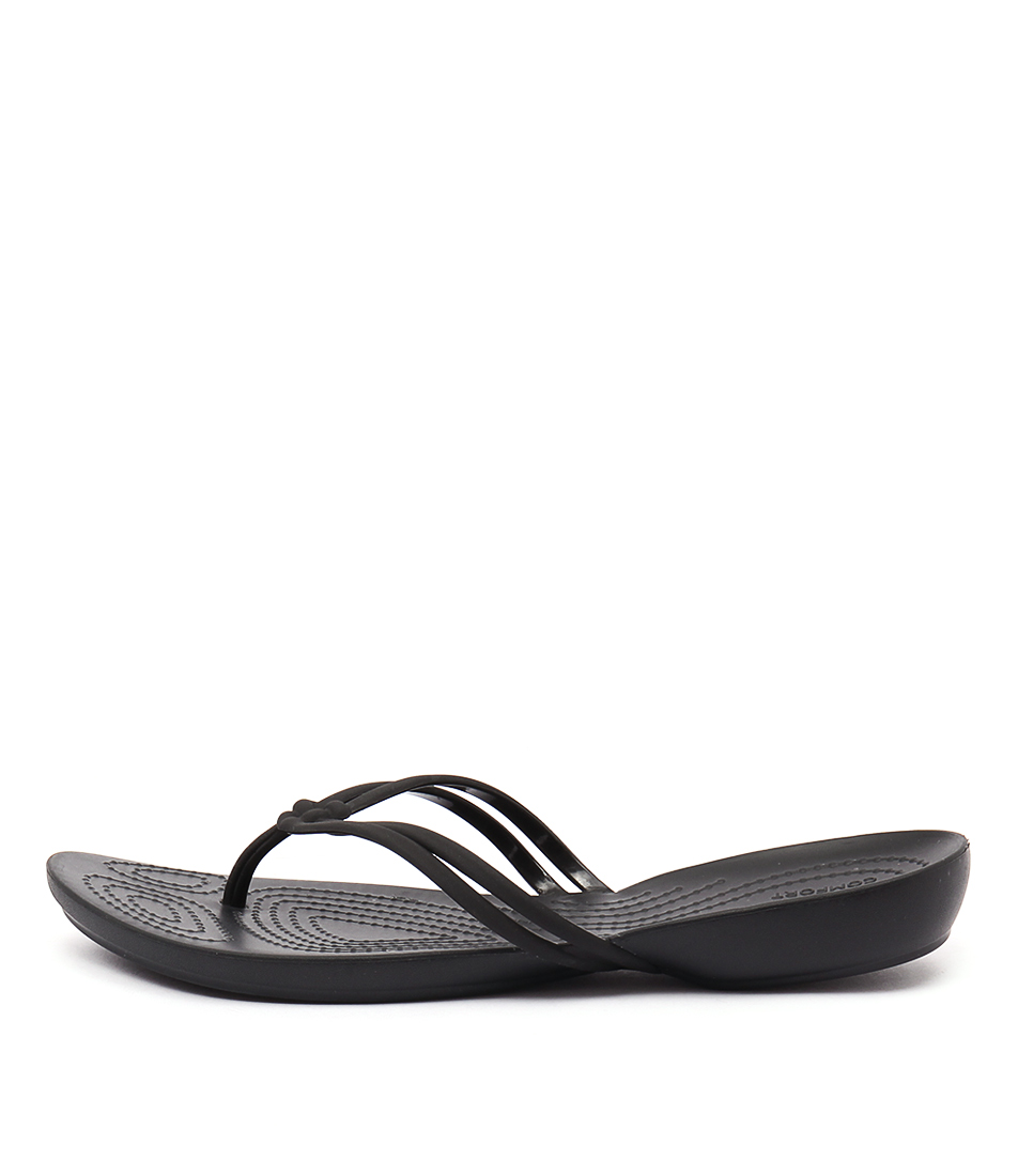 Crocs Isabella Flip Black Sandals