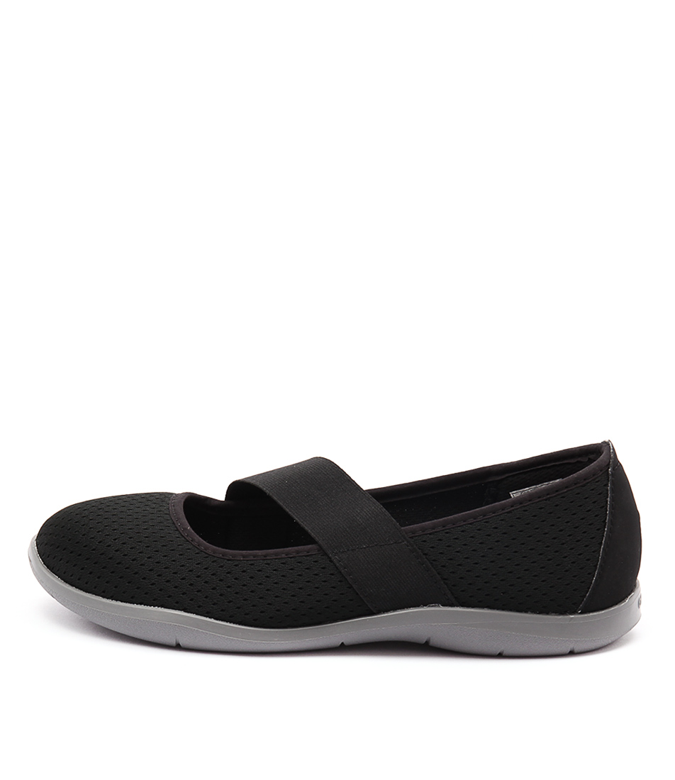 Crocs Swiftwater Flat Black Smoke Flats