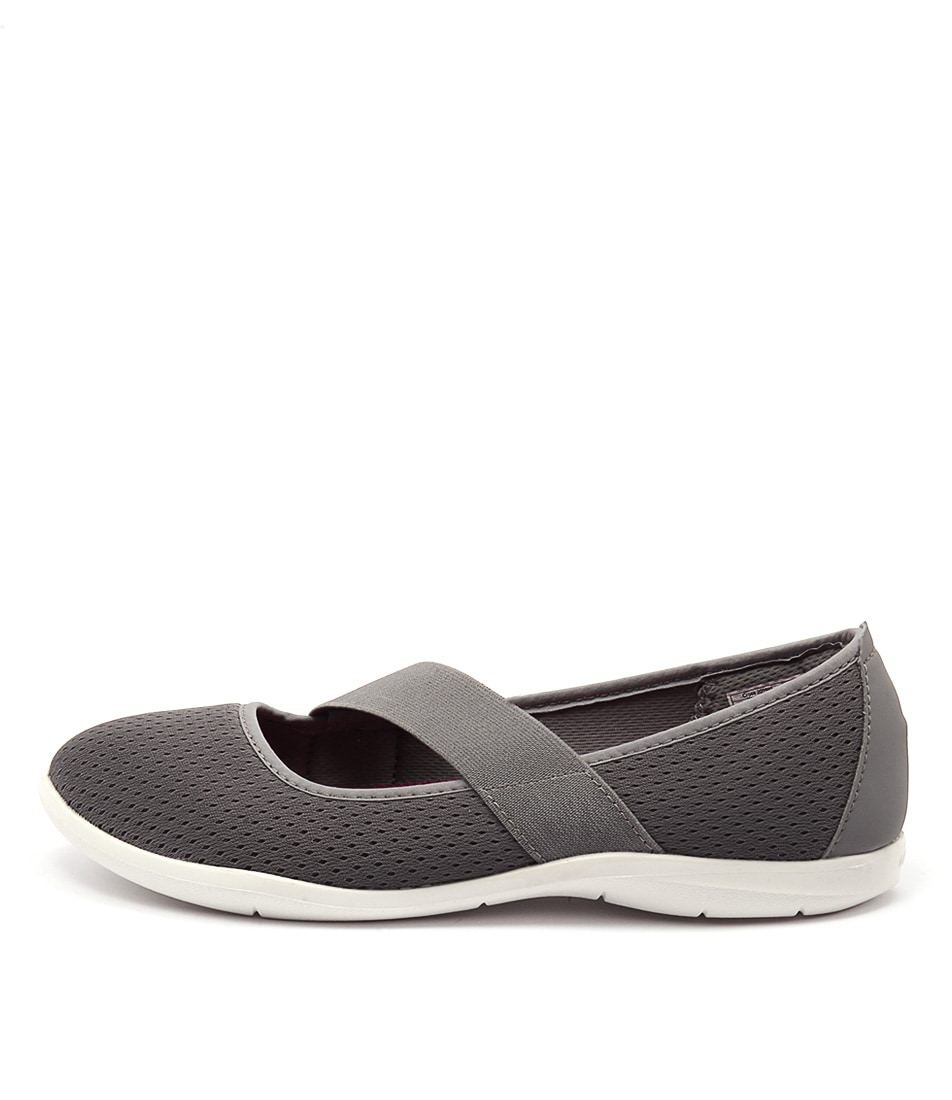 Crocs Swiftwater Flat Smoke White Flats