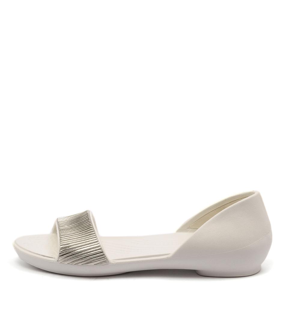 Crocs Lina Embellished Dorsay Oyster Champagne Sandals