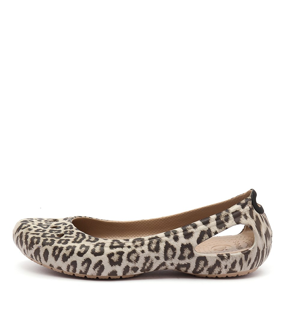 Crocs Kadee Graphic Flat Leopard Casual Flat Sandals