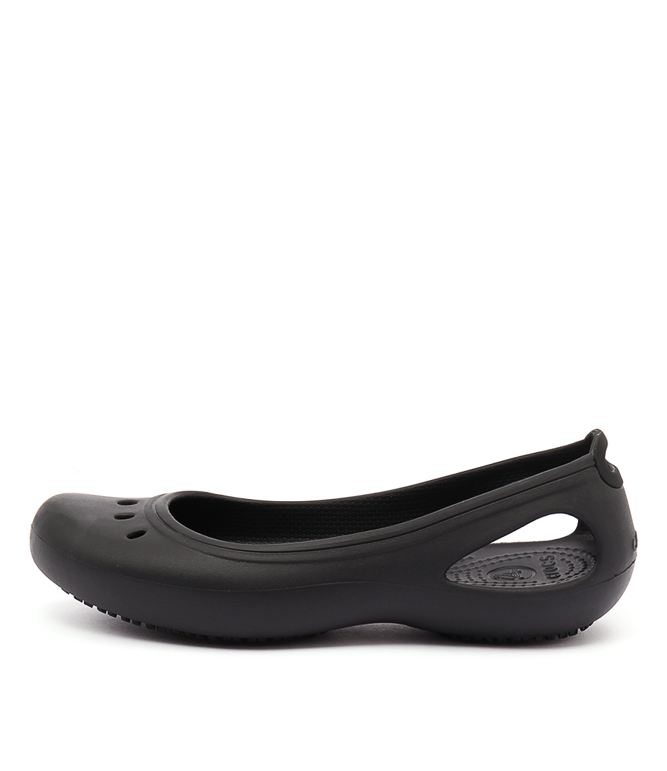 Crocs Kadee Work Flat Black Sandals