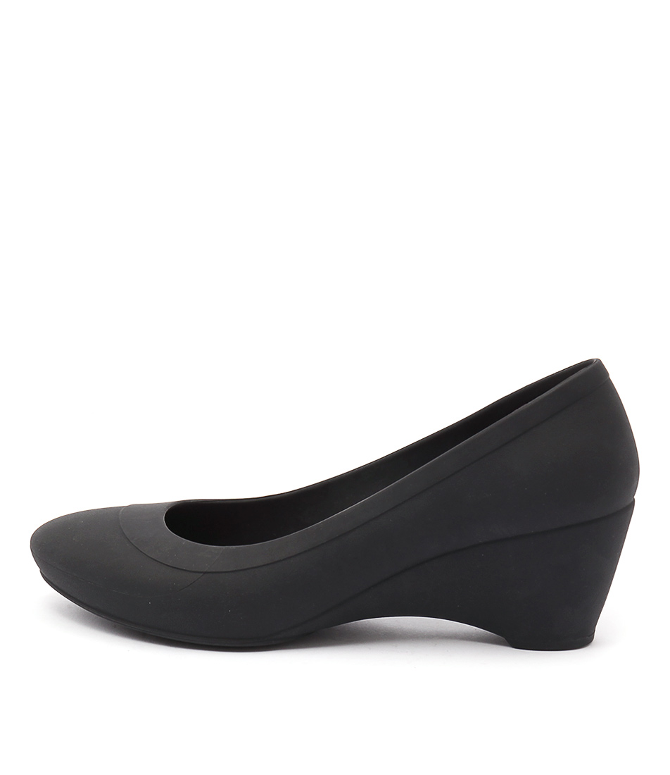 Buy Crocs Lina Wedge Black High Heels online with free shipping