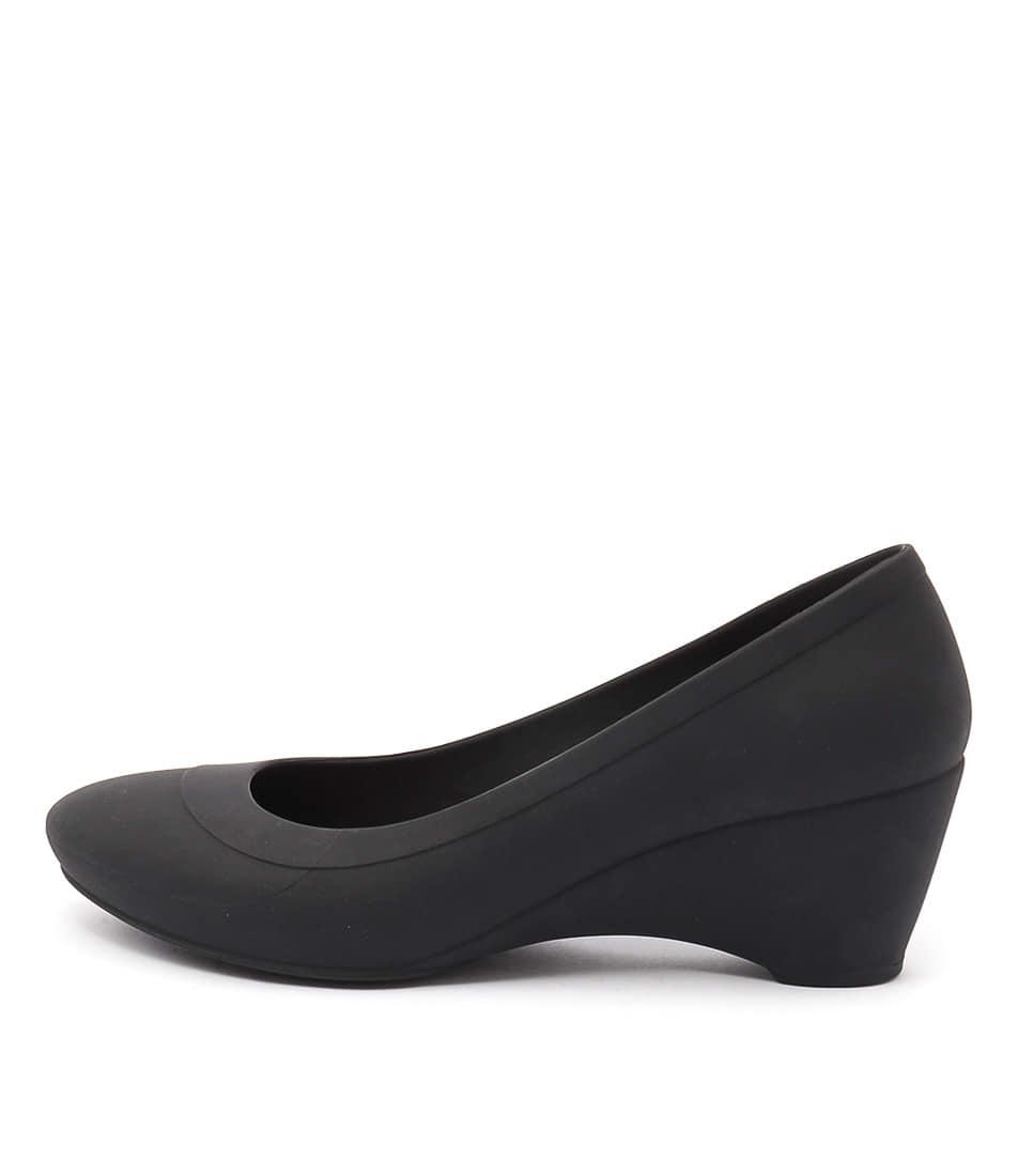 Crocs Lina Wedge Black Heeled Shoes