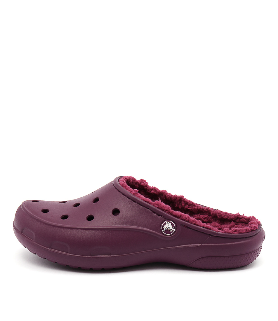 Crocs Freesail Plushlined Clog Plum Casual Flat Shoes