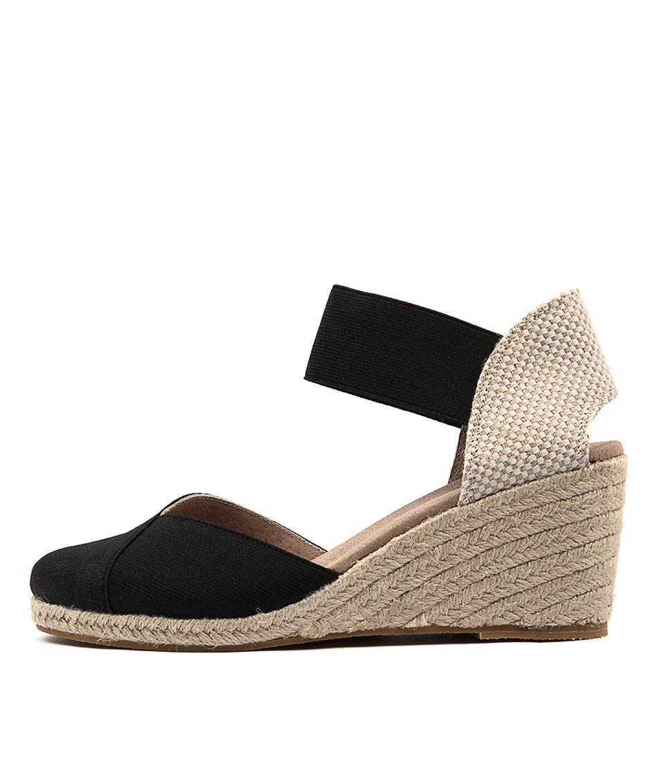 Buy Diana Ferrari Zana Black Beige Heeled Sandals online with free shipping