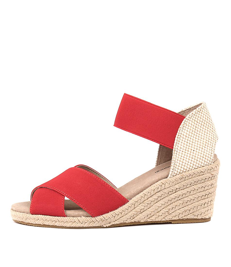 Diana Ferrari Zee Red Beige Heeled Sandals